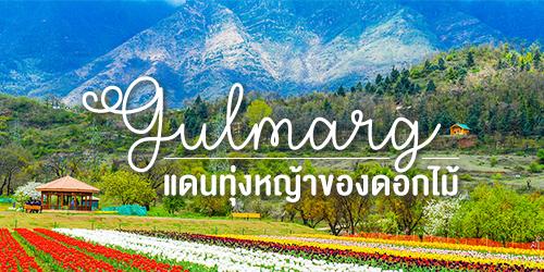 """กุลมาร์ค (Gulmarg) หรือ """"แดนทุ่งหญ้าของดอกไม้ (Meadow of Gold)"""""""