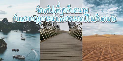 จัดทริปเที่ยวเวียดนาม กับหลากฤดูกาลน่าเที่ยวตลอดปีในเวียดนาม
