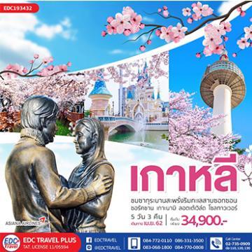 ทัวร์เกาหลี KOREA PINK LOVER 5 วัน 3 คืน โดยเอเซียน่า แอร์ไลน์[OZ]