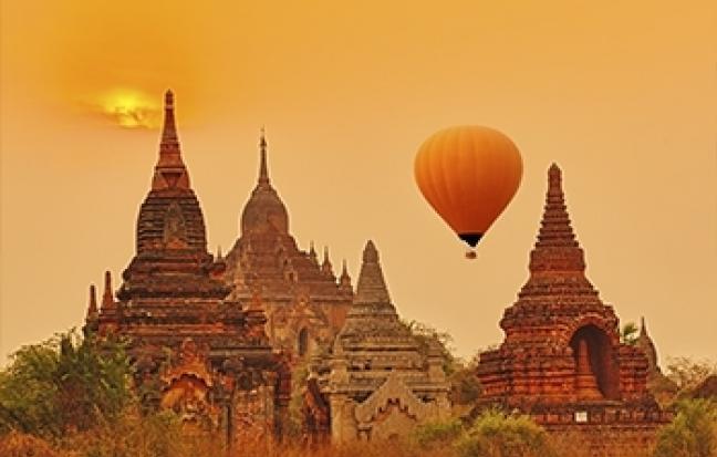 ทัวร์พม่า  มหัศจจย์ BAGAN นั่งบอลลูนชมเมืองพุกาม