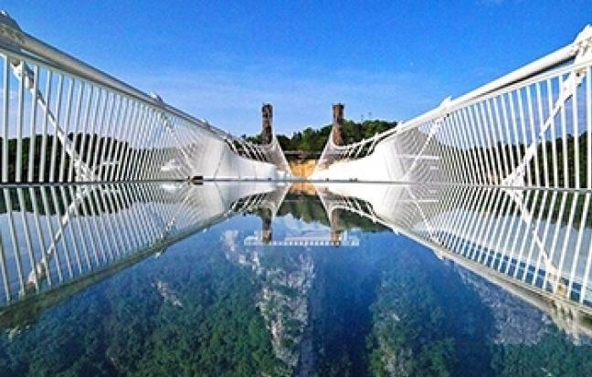 ฉงชิ่ง หลุมฟ้าสามสะพานสวรรค์ ว่านเซิ่น สะพานกระจก