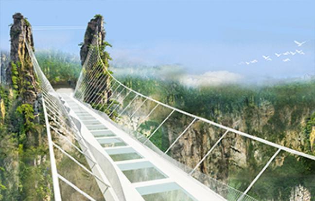 ทัวร์จีน FUNNY NO SHOP จางเจียเจี้ย - เที่ยวครบ 2 เขา - สะพานแก้ว