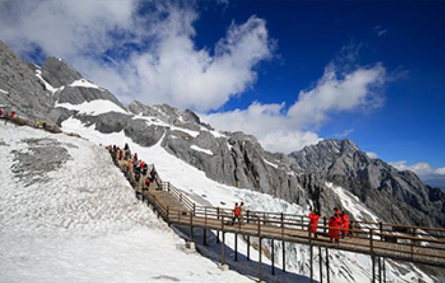 ทัวร์จีน คุนหมิง ตงชวน ภูเขาหิมะเจี่ยวจื่อ [เลสโก ยอดเขาหิมะ]